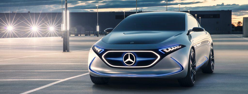 Volledig elektrische Mercedes