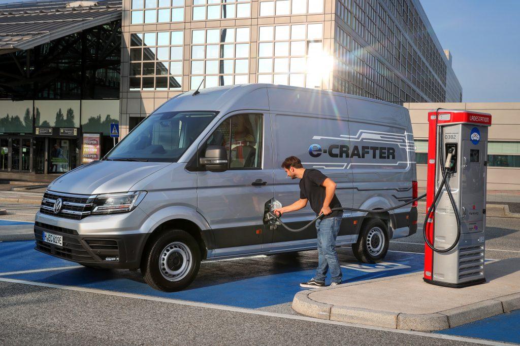 Elektrische Bedrijfswagen Volkswagen E Crafter Te Bestellen In